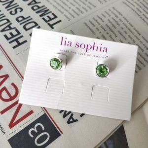 Lia Sophia Mint Green mini stud earrings
